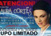 Laura cortes clases individuales de canto e interpretacion