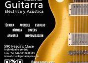 Clases de guitarra eléctrica y/o acústica.