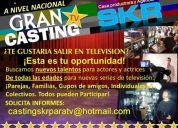 ¡buscamos nuevos talentos para television....con o sin experiencia!