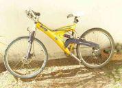 Bicicketa de montaña jeeo doble amortiguador