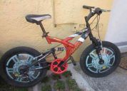 bicicleta turbo 6 velocidades rodada 20