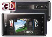 Lg optimus 3d ( graba video 3d, doble camara5mp, juegos en 3d, 8gb, pantalla 4.5 '',andr