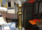 Lámpara fundición 1950 pantalla crystal fino