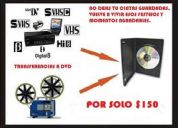 !oferta¡ por solo $150 pesos pasamos todos tus cassetees a dvd! cel 6642323245