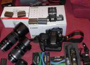 Canon eos 50d seminueva + objetivos + accesorios
