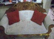 Aprovecha el buen fin, hermoso paquete de sala rÚstico y tapizado