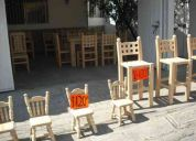 Muebles de madera solida de pino