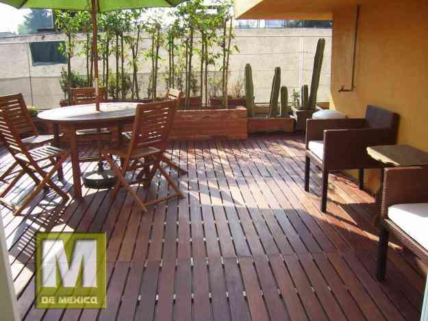 Deck pisos de madera para exterior mexico df coyoacan for Muebles exterior mexico