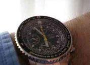 Vendo reloj seiko modelo pilot flight master negro extensibles acero inox