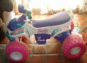 Moto power wheel barbie 6 v
