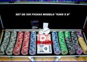 Estuche de 500 fichas de casino