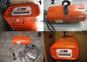 Polipastos electricos cm valustar 500 y 1000 kilos