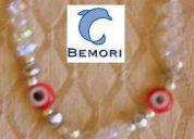 Pulsera ojo turco con medalla de san benito (mod.1001)