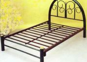 Base cama matrimonial tubular