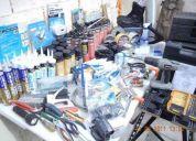 Oportunidad! lote de herramientas, material de construccion, videocamara sony, etc!