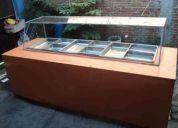 Mesa caliente bufetera