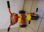 Vendo triciclo rayo mcqueen