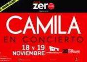 Vendo 2 boletos de camila para el 19 de noviembre en el auditorio nacional