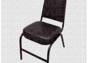 Vendo sillas apilables acojinadas vinil
