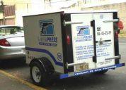 Remolque de caja cerrada, ideal para negocios
