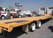 Plataforma cama baja viezca 48 pies x 2.60 mts ancho