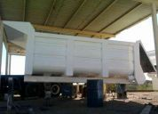 caja volteo de 14 metros *nueva* pintada exterior blanco