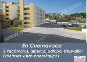 Departamentos con alberca cuernavaca sur 84m con 3 rec y 2 baños todo credito.