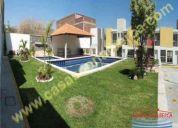 Casas con alberca en cuernavaca sur plusvalía 84m 3 rec todos creditos $ 840,000.