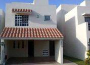 casa sola en renta, calle blvd. nautico (villas nautico), col. ganadera, altamira, tamaulipas
