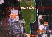 Se vende terreno en zona norte junto a zona portuaria 97 has
