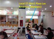 Oportunidad local en venta en el fast food de plaza las américas