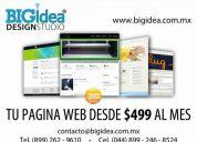 Bigidea design studio: tu pagina web desde $499 mensuales
