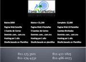 Páginas web desde $650!! en monterrey
