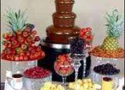 Renta de fuentes de chocolate y chamoy
