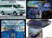 Promotores e intermediarios de viajes turisticos ofrece renta de camionetas y autobuses