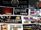 Transporte a conciertos guns'n'roses, aerosmith, megadeth, hell & heaven, dream theater