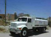 Servicio de acarreo de agua potable o agua tratada en pipa, en chihuahua
