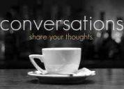 Sesiones de conversaciones en inglés (conversation club house)