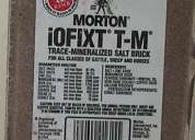Sal para ganado mineralizada ladrillo morton iofixt-tm