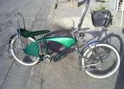 Remato bicicleta 20¨ lowrider schwinn verde con cromo completa urge