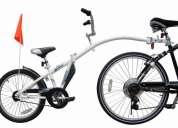 Trailer remolque p/ bicicleta marca wee ride co-pilot nuevo.  padrisimo!!!!
