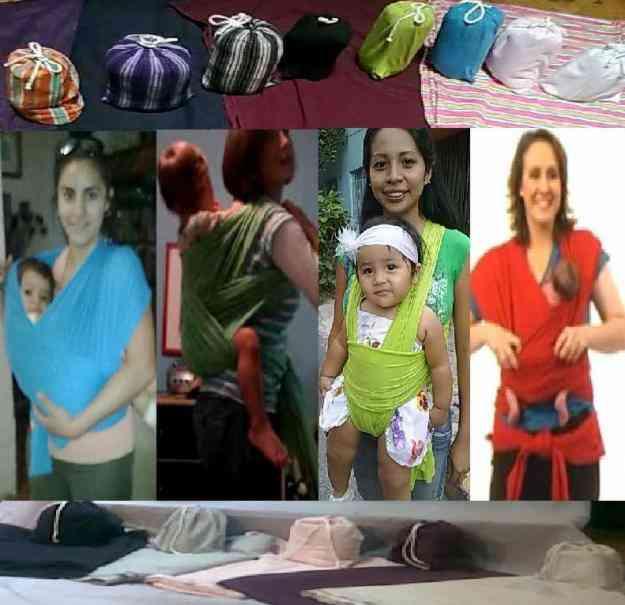Rebozo(con Video-Instructivo y Bolsa)Para Bebé, Tela especial, todos los colores