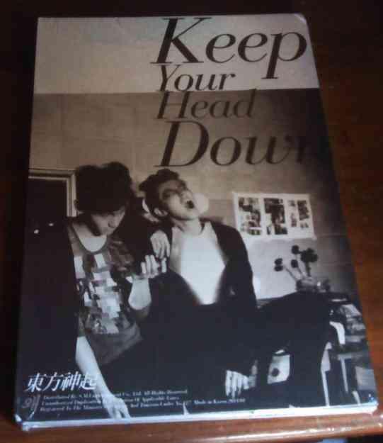 TVXQ, TOHOSHINKI, DBSK - Keep Your Head Down (CD+BOOK+CARD+POSTER)