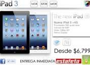 Apple ipad 3 4g 16gb-32gb-64gb nuevas originales + envÍo gratis + precios de mayoreo desde