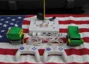 2 vehiculos 2 controles y una consola de mando rokenbok system