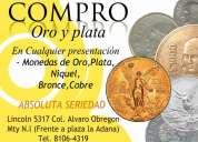 Compro monedas de niquel, cobre y bronce