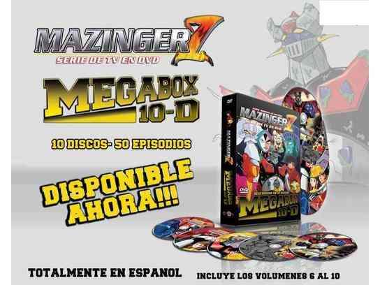DVD MEGABOX MAZINGER Z VOL. 6 AL 10