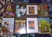 Lote de 8 películas originales en dvd seminuevas en caja nvb