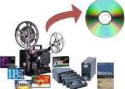 Transfer de video cine super8 8mm 16mm 35mm vhs beta a dvd