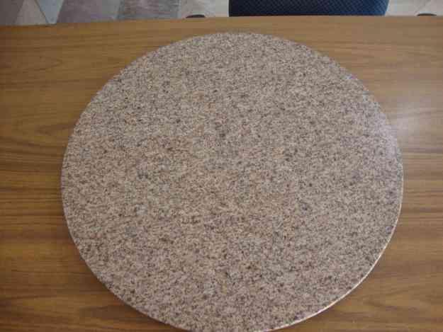 Centro de mesa giratorio de granito monterrey el uro for Precio mesada granito
